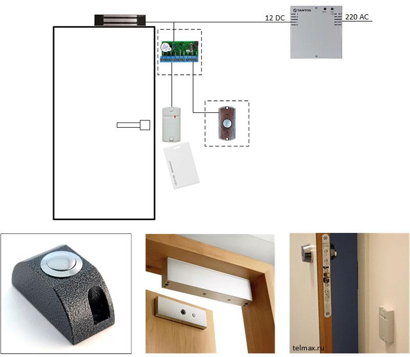 avtonomnaya-sistema-kontrolya-dostupa-na-odnu-dver-s-ehlektromagnitnym-zamkom-variant-2