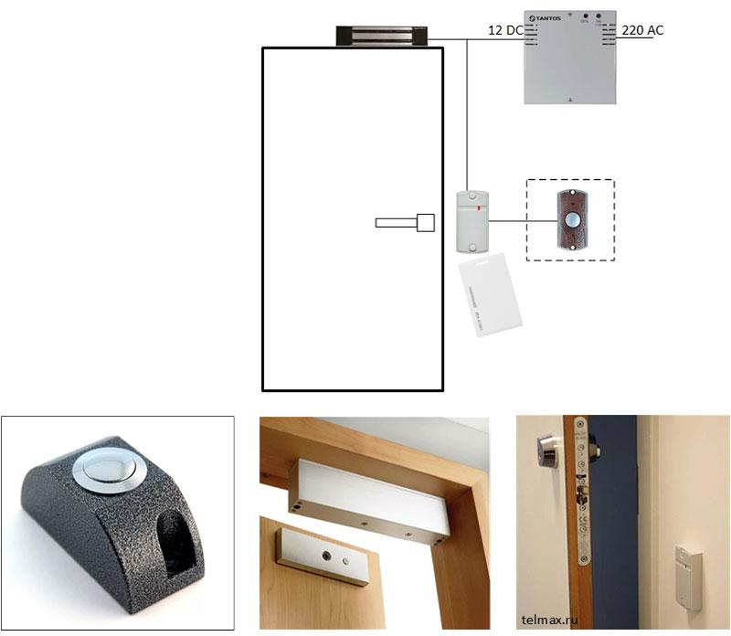 avtonomnaya-sistema-kontrolya-dostupa-na-odnu-dver-s-ehlektromagnitnym-zamkom-variant-1